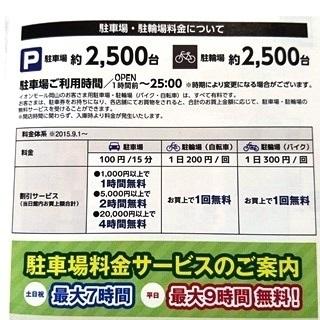 イオンモール岡山 駐車場 料金の基本.JPG